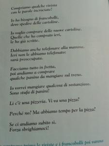 Suggestopediskt hållen lärobok i italienska