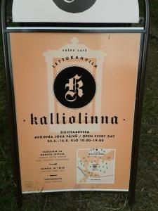 Plättcaféets reklam, med karta.