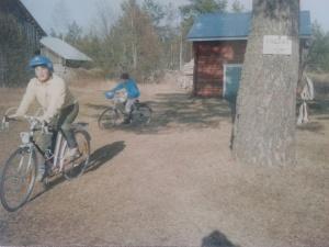 Träning i cykelfärdigheter.